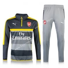 2016-17 Arsenal Yellow Thailand Soccer Tracksuit