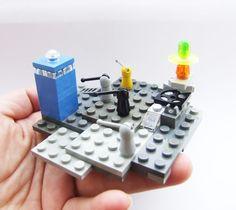 LEGO TARDIS with Daleks