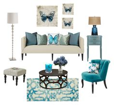 """""""Butterfly"""" by glorinonis on Polyvore featuring interior, interiors, interior design, hogar, home decor, interior decorating, Barclay Butera, Home Decorators Collection, Universal Lighting and Decor y Pillow Decor"""
