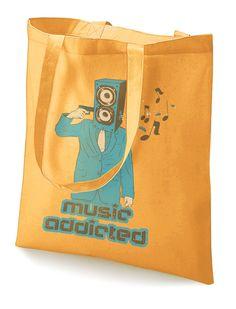 "Stoffbeutel ""Music Addicted""  von MAD IN BERLIN auf DaWanda.com"