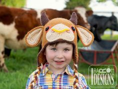 Mr Moo the Bull and Molly Moo the Cow PDF Crochet Pattern by IraRott Inc.