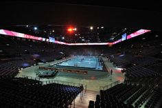 Hallenstadion in Zurich, seats for a Floorball game, home of the WFC 2012 Zurich, Event Venues, My Dream, Basketball Court, Game, Places, Sports, Hs Sports, Gaming