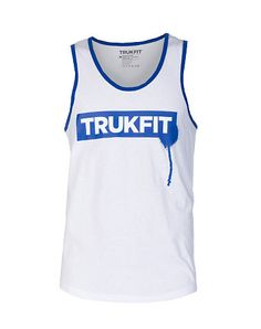 TRUKFIT+Tank+style+top+Screen+print+TRUKFIT+logo+across+front+Lightweight+stretch+material+for+ultimate+comfort+Cotton