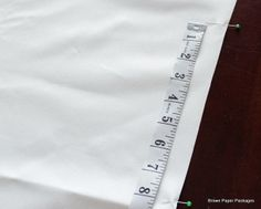 Great step by step directions to making a Roman Shade using shade tube tape.