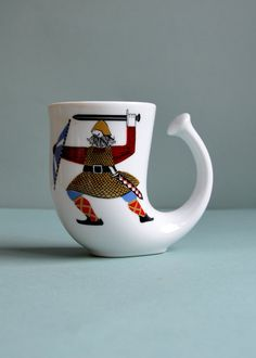 """The Vikings"" Horn Mug by Rolf Frøyland \\ MisterTrue via Etsy"