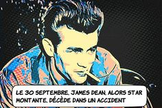 """Mort de James Dean ... L'acteur américain James Byron Dean meurt dans un accident de la route en Californie à 24 ans. Passionné de vitesse il avait fait l'acquisition d'une Porsche 550. Un seul film aura réussi à faire de lui une star """"A l'est d'Eden"""" d'Elia Kazan. Symbole de la jeunesse américaine inquiète et rebelle sa carrière s'achève en pleine gloire. ... #histoire #vitesse #vintage #star #hollywood Star Hollywood, Vintage Star, Elia Kazan, Acquisition, Porsche 550, James Dean, Fictional Characters, American Actors, California"""