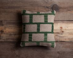 Gray Kilim Pillow  Handwoven Wool Brooklyn by ChristianRathbone