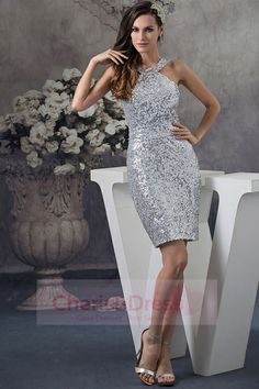 Buy halter top miss universe pageant dress in silver shinning fabric from silver pageant dresses collection, straps neckline column/sheath in color,cheap mini length sequined dress with zipper and for prom party cocktail party night club . Short Tight Prom Dresses, Fitted Prom Dresses, Formal Dresses For Women, Pageant Dresses, Homecoming Dresses, Dresses Uk, Dresses Online, Short Prom, Long Dresses