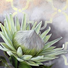 Protea Art, Protea Flower, Botanical Illustration, Botanical Prints, Watercolor Flowers, Watercolor Art, South African Artists, Draw On Photos, Name Art