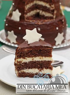 Chocolate Cake with Orange Cream - creamy chocolate coating and a sweet-sour cream filling. (in Romanian) Dessert Cake Recipes, Just Desserts, Cookie Recipes, Chocolate Recipes, Chocolate Cake, Chocolate Orange, Romanian Desserts, Different Cakes, Food Cakes