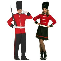 Pareja Guardias Reales Ingleses #parejas #disfraces #carnaval #novedades2016