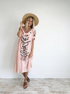 Rose floral embroidered summer dress | ROOLEE