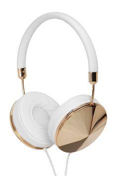 Taylor Over-Ear Gold/White Headphones $100