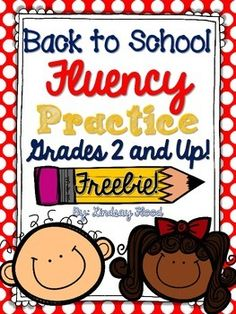 These BACK TO SCHOOL Fluency cards are a great way to practice fluency with your students have a hard time chunking phrases and using punctuation cues!  In this FREE Fluency Practice Pack, you'll find: *2 pages of detailed instruction *2 sets of fluency practice cards {4 cards per set - 3 focused on sentence fluency, 1 card focused on comprehension}  PLEASE leave feedback if you like this product!
