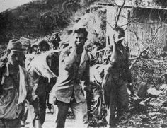 American prisoners of war carry their wounded and sick during the Bataan Death March in April of This photo was taken from the Japanese during their three year occupation of the Philippines. (AP Photo/U. O Donnell, Ww2 History, Military History, Palawan, Bataan Death March, Leyte, Prisoners Of War, Pearl Harbor, China