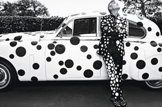 Love this: George Clooney as dressed by Yayoi Kusama