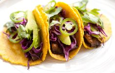 LIME CILANTRO PORTOBELLO TACOS - a house in the hills