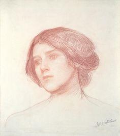 Head of a Girl, John William Waterhouse