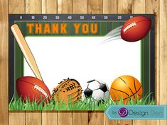 All Star Sports Thank you card. All Star Sports by ByDesignDen