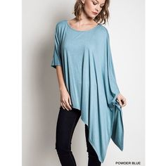 """Drama Queen"" Asymmetrical Hem Top Asymmetrical hem top with longer sleeves and a drape on one side. Extremely versatile and funky! Brand new without tags. True to size. Absolutely no trades. Also available in tan. Bare Anthology Tops"