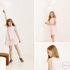 Pink dress + minimal kids fashion