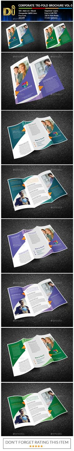 CORPORATE TRIFOLD BROCHURE VOL-1 - Brochure Print Template PSD. Download here: http://graphicriver.net/item/corporate-trifold-brochure-vol1/11713521?s_rank=1789&ref=yinkira