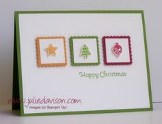 Julie's Stamping Spot -- Stampin' Up! Project Ideas Posted Daily: Clean & Simple Merry Minis CASE