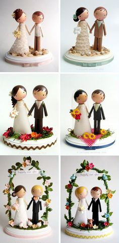 clothespeg/custom cake toppers from etsy