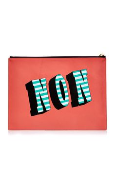 """25 Look-At-Me Buys From The Matches Fashion Sale #refinery29  http://www.refinery29.com/matches-summer-sale#slide-6  This pouch may say """"Non,"""" but don't worry, the other side says """"Oui."""""""