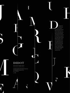 Didot poster by Steven Xue - Typography - Type Posters, Graphic Design Posters, Graphic Design Typography, Retro Typography, Creative Typography, Graphisches Design, Book Design Layout, Illustration Vector, Graphic Design Illustration