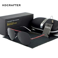 HDCRAFTER New Luxury retro Sport fashion Polarized Sunglasses Men aviation sun glasses men's sunglasses designer glasses for men