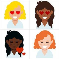 Esses são os novos emojis com cachos, #glamboxbrasil