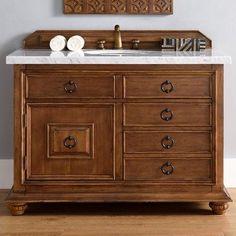 """James Martin Furniture Mykonos 48"""" Single Cinnamon Bathroom Vanity Set"""