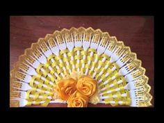 Декоративные веера из пластиковых вилок - YouTube