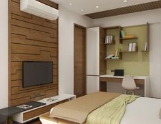 False Ceiling Living Room Home false ceiling bedroom luxury.False Ceiling Design For Kids. Bedroom Bed Design, Room Interior Design, Home Decor Bedroom, Modern Bedroom, Layout Design, Simple False Ceiling Design, False Ceiling Living Room, Studios, Tv Unit Design