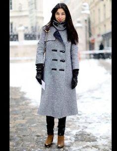 elegante en hiver