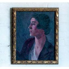 Vintage Lady Brunette Artwork,$550.00
