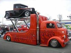1939 Ford COE Custom Dual Transporter, with a 1932 Ford Pickup