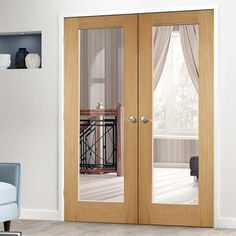 Internal french doors and double doors in oak, solid hardwood, ash, walnut and pvc. Whether you need glazed, half-glazed or solid door sets we can supply them. Internal Glazed Doors, Internal French Doors, Glass French Doors, Glass Doors, Wooden Glass Door, Wooden Doors, Prehung Interior French Doors, Interior Double French Doors, French Closet Doors