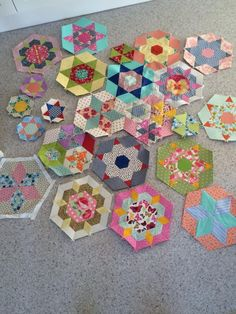 Smitten hexagon blocks