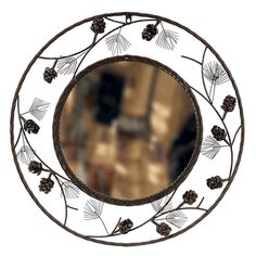 Metal Pinecone Mirror
