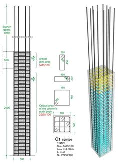 BuildingHow > Products > Books > Volume A > The reinforcement I > Columns > Typical cross-sections Civil Engineering Design, Civil Engineering Construction, Construction Design, Design Engineer, Concrete Cover, Concrete Column, Concrete Blocks, Structural Drawing, Architecture Drawing Plan