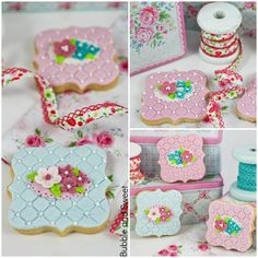 Bubble and Sweet: How to make Pretty Shabby Chic Cookies