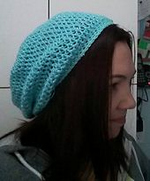 Conny - pattern idea for slouchy beanie. next project for customer.