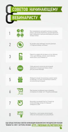 Инфографика: 8 советов начинающему вебинаристу
