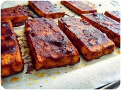 BBQ baked tofu (maybe sub soy sauce for tamari) or just use store bought BBQ