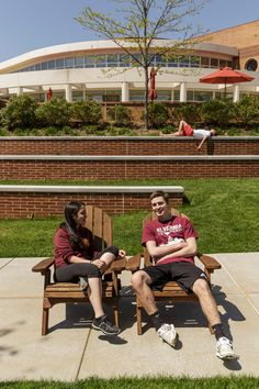 #Alvernia's quad lends itself for hanging out in the #adirondack chairs or you know… taking a nap.