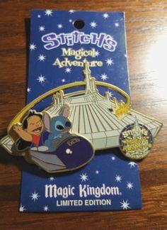 Disney Stitch's Magical Adventure Space Mountain Pin