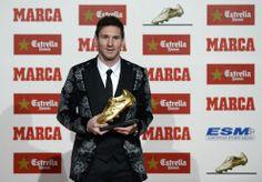 Lionel #Messi recibió su tercera Bota de Oro
