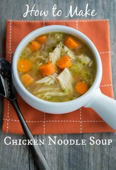 How to Make Chicken Noodle Soup   Carrie's Experimental Kitchen #chicken #soup